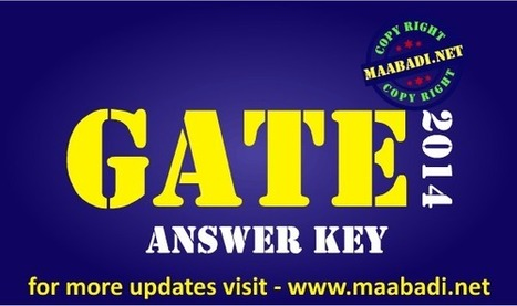 GATE Answer Key 2014 made easy, Resonance, Aakash download | maabadi.net | Scoop.it