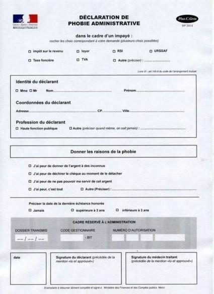 Formulaire de d claration de phobie admi - Faux document pour louer appartement ...