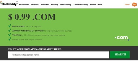 GoDaddy Coupon Code 99 Cent Latest Oct 2016 Upto 90% OFF | How to earn money online - Labshab | Scoop.it