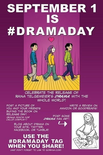 It's DRAMA Day with Raina Telgemeier's new book and tour The Beat   Ladies Making Comics   Scoop.it