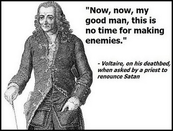 Voltaire and Satan | Intelligent humor | Scoop.it