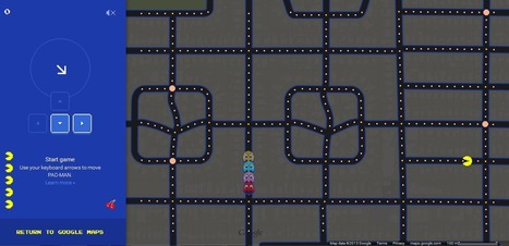 Play Pac Man on Google Map Local Results | enterainment with messaging | Scoop.it
