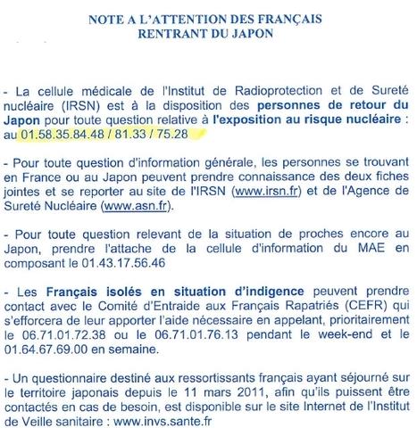 Note à l'attention des Français rentrant du Japon (21 mars 2011)    Ambassade de France au Japon   Japon : séisme, tsunami & conséquences   Scoop.it