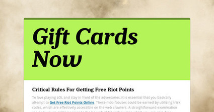 Critical Rules For Getting Free Riot Points   Laser Hair Removal   Scoop.it