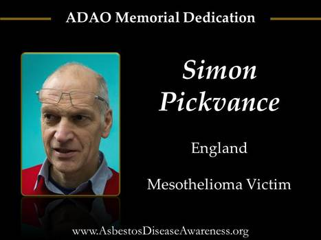 Memorial Graphic: Simon Pickvance (November 2012) | Asbestos and Mesothelioma World News | Scoop.it