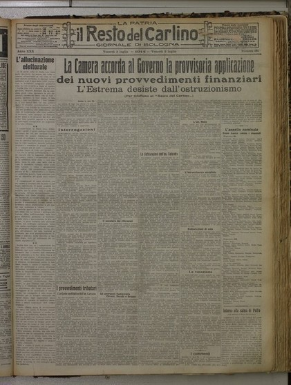 Il Resto del Carlino 1914-1918: la guerra in prima pagina | Généal'italie | Scoop.it