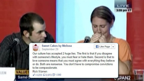 Anti-Gay 'Christian' Wedding Cake Baker Weeps On Camera After Getting Her Just Desserts (Video) | Weddings | Scoop.it