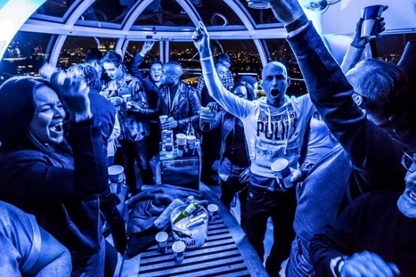 Red Bull transforme le London Eye en boîte de nuit | streetmarketing | Scoop.it