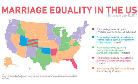 The Changing Map of Marriage Equality in the US | Gay Parenting | Scoop.it