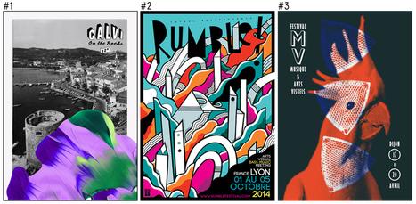 Les 100 plus belles affiches des festivals français en 2014 | Webdesign | Scoop.it