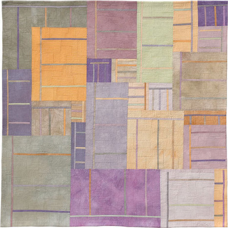 """Lisa Call -- Textile Paintings """"The Softening of Colors""""   Share Some Love Today   Scoop.it"""