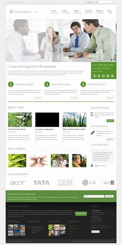 InnoCompany, WordPress Corporate Business Theme   WP Download   Save big with Amazon coupon 10%   Scoop.it