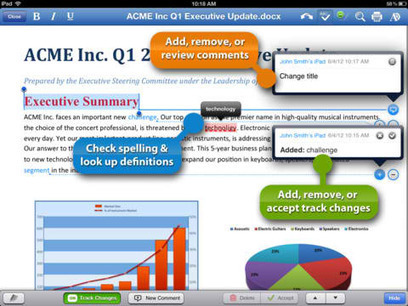 Popular iPad Office Suite Quickoffice Pro HD Introduces Tracking, Commenting And More -- AppAdvice | Tablets, Technology and Tools for Teaching in the Classroom | Scoop.it