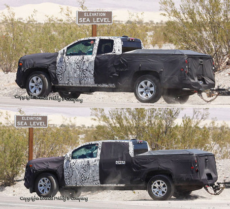 Spied! 2015 Chevy Colorado and GMC Canyon | Toyota Tacoma | Scoop.it