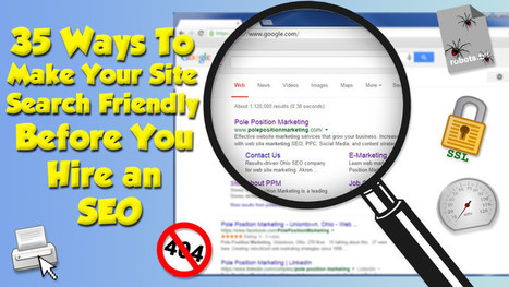 35 Ways To Make Your Site Search Friendly Before You Hire An SEO | Interesting articles | Scoop.it
