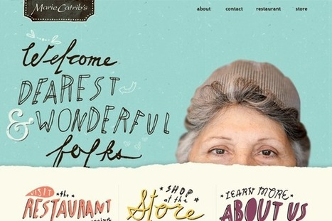 41 Examples of Sketches and Drawings in Website Layouts | Art - Craft - Design- Net | Scoop.it