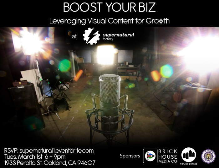 Join Us Tomorrow Night... Boost Your Biz - Oakland from 6-9pm! | Multimedia Marketing by Brick House Media Co. | Scoop.it