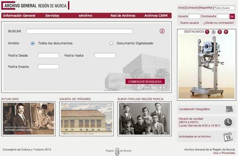 El #Archivo Regional de #Murcia publica una nueva web institucional | Index Murcia | Scoop.it