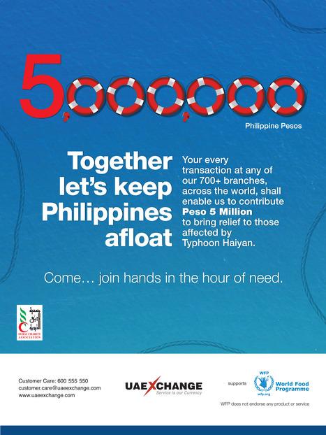 UAE Exchange donates 5 Million Philippine Pesos to WFP for typhoon relief | UAE Exchange | Scoop.it