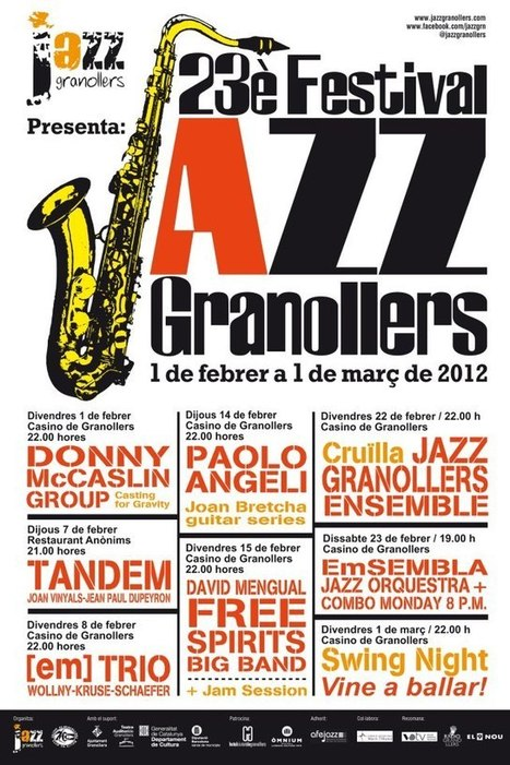 23 Festival de Jazz de Granollers | Actualitat Jazz | Scoop.it