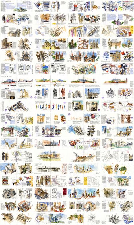 Urban Sketchers: My Barcelona Sketchbook | Urban Sketchers | Scoop.it