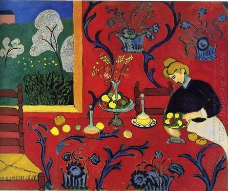 Oil painting reproduction: Henri Matisse Harmony In Red 1908 - Artisoo.com | famous paintings gallery | Scoop.it