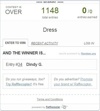 Winner for our 2nd Anniversary Giveaway - Katrina's Clothing | Philippine Fashion | Scoop.it