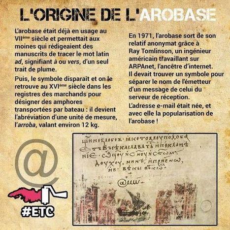 Frances de 1º de Bachillerato (A2): L'origine de l'arobase | Remue-méninges FLE | Scoop.it