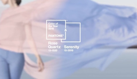 Color for 2016: ROSE QUARTZ & SERENITY by Pantone | Tododesign | Scoop.it
