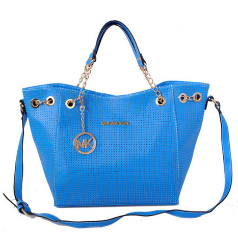 Michael Kors Perforated Saffiano Large Blue Tote Bags | new style | Scoop.it