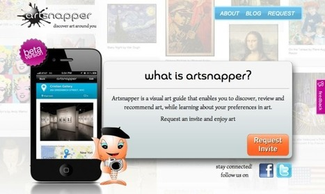 Art discovery & social sharing app Artsnapper lets you discover, review and recommend to friends | Cris Val's Favorite Art Topics | Scoop.it