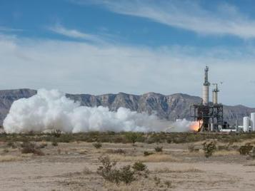 Blue Origin Rocket Engine Test-fired for Simulated Suborbital Run | SpaceNews.com | The NewSpace Daily | Scoop.it