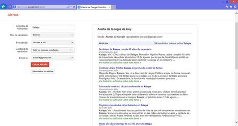 Monitorea temas de interés con alertas de google, aquí te digo cómo hacerlo | Marketing | Scoop.it