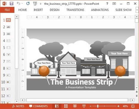 Animated Business Strip PowerPoint Template | PowerPoint presentations and PPT templates | Scoop.it