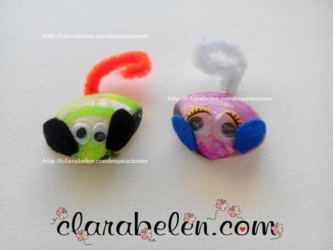 ¡Manualidades con los niños! Divertidos ratones hechos con conchas | Manualidades en educación infantil | Scoop.it