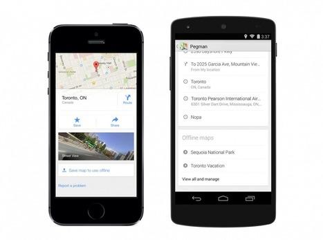 Voici comment télécharger une carte sous Google Maps pour la consulter hors-ligne | No Watch News | Scoop.it