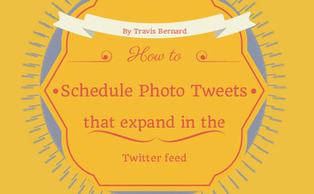 How to Schedule Photo Tweets That Expand in the Twitter Feed | All Things Web Design! | Scoop.it