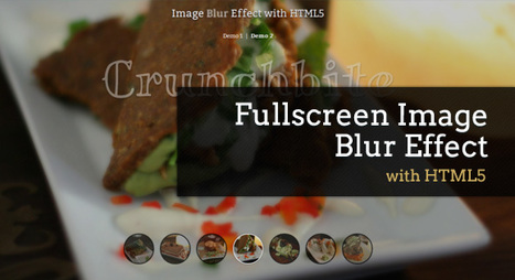 Fullscreen Image Blur Effect with HTML5 | Basics and principles for a good  Web Design | Scoop.it