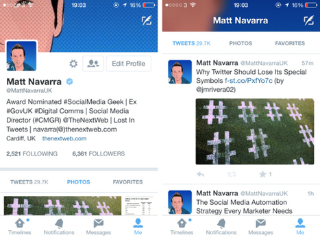 Twitter Tests More Inviting Profile Designs On Mobile | TechCrunch | IMC | Scoop.it