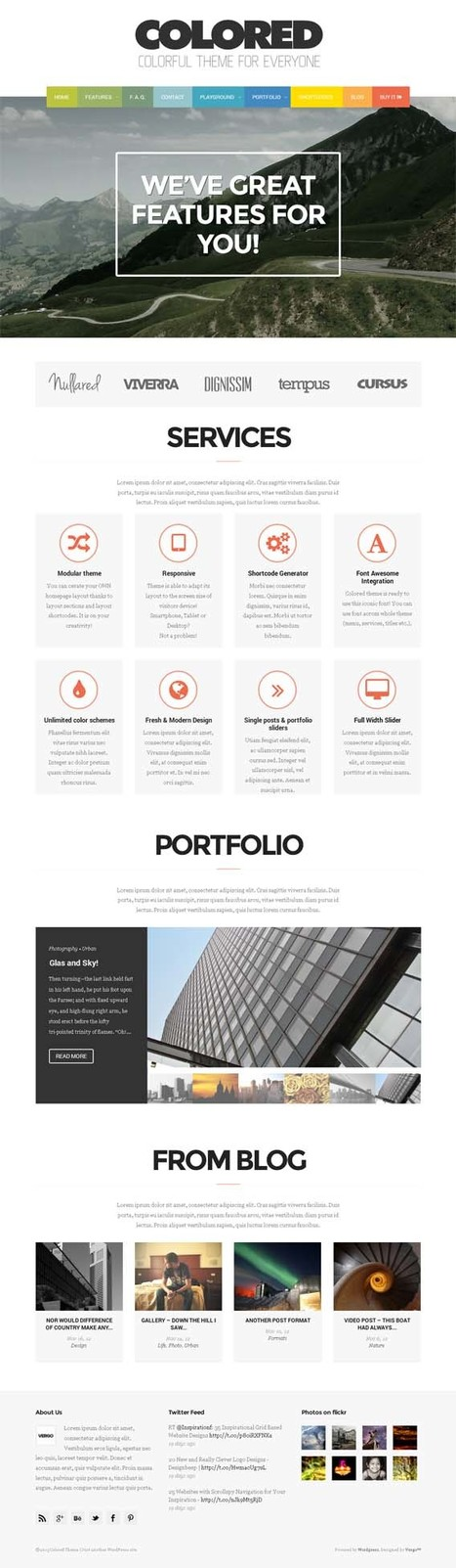Colored, Premium WordPress Portfolio Theme | WP Download | Premium WordPress Themes Download | Scoop.it