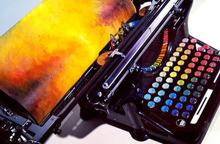 This Incredibly Cool Chromatic Typewriter Types Out Art | Inspiration | Scoop.it