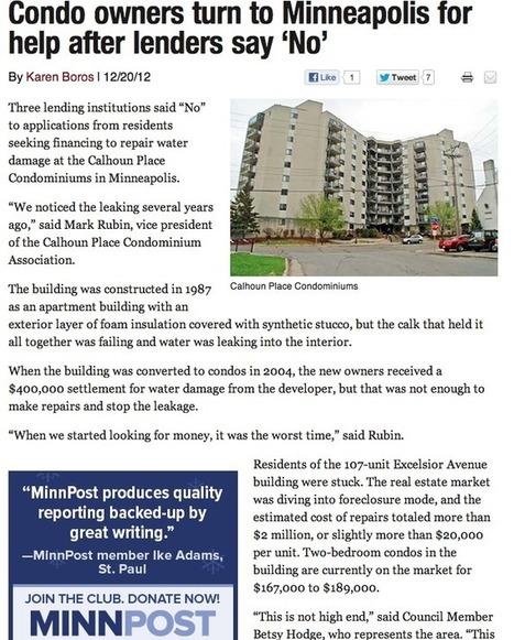 Calhoun Place Condos: Units Face Possible $20,000 Assessment | Minneapolis Real Estate | Scoop.it