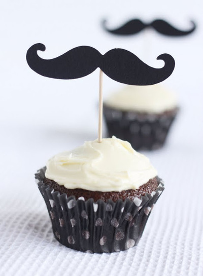 Moustache Cupcakes ! | Gourmand et Gourmet | Scoop.it