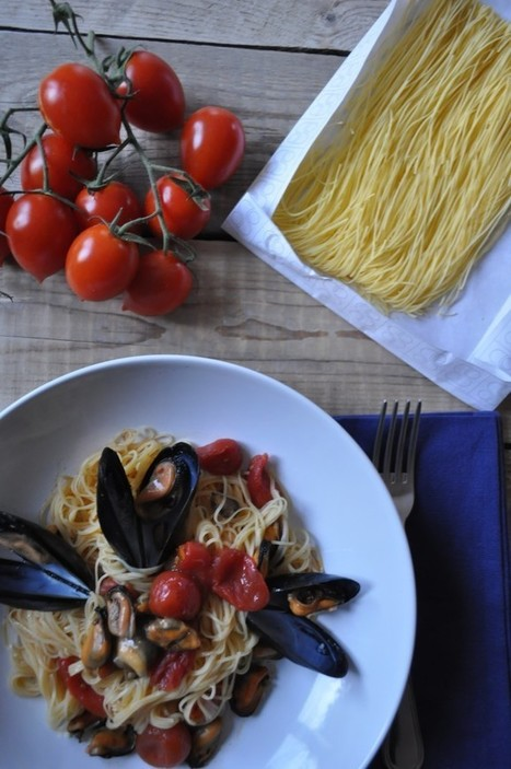 Le Marche Pasta recipe: Maccheroncini di Campofilone with mussels and roasted tomatoes | Le Marche and Food | Scoop.it