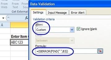 Excel Data Validation Examples Custom Criteria   Data Management, Data Quality   Scoop.it