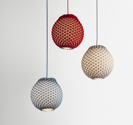 knitted lighting fixtures made from 3D patterned textiles - Designboom   Intriging in Textiles   Scoop.it