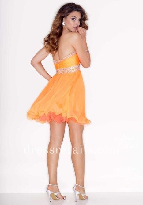 2015 orange short flirty sweetheart neckline Mori Lee cocktail dress 9207 [Mori Lee 9207] - $166.00 : Prom Dresses | Dresses From dressretails.com | Dresses for girls | Scoop.it