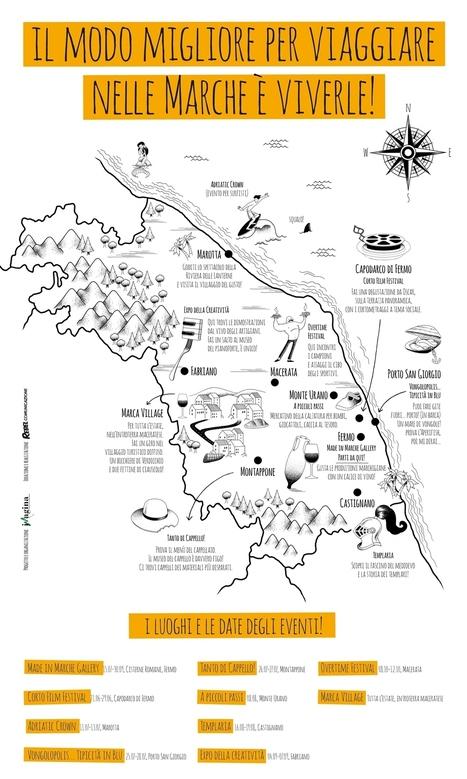Gran Tour Eventi delle Marche in un'infografica | Le Marche un'altra Italia | Scoop.it