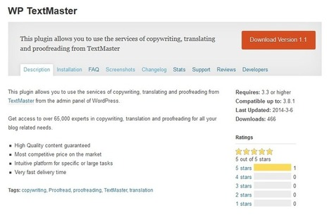 Plug-in Texmaster : commandez du contenu depuis Wordpress | Brand Content -  Marketing - Web | Scoop.it