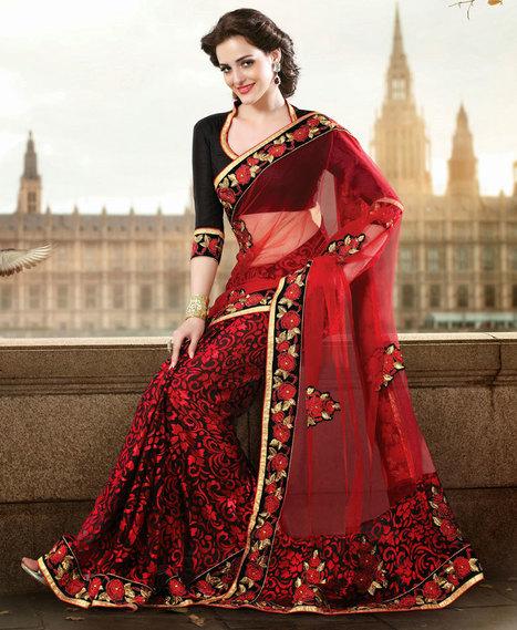 Designer Sarees-Beautiful And Elegance Dress Of Indian Women | Online shopping | Scoop.it